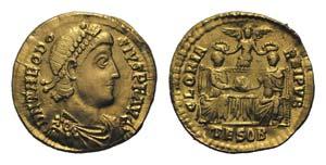 Theodosius I (379-395). AV Solidus (20mm, ...