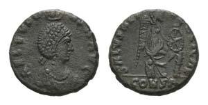 Aelia Eudoxia (c. 402-403). Æ (14mm, 2.51g, ...