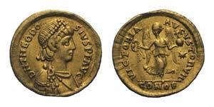 Theodosius II (402-450). AV Tremissis ...