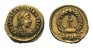 Valentinian III (425-455). AV Tremissis ...