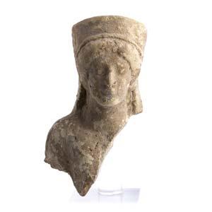 RITRATTO FEMMINILE CON POLOSMagna Grecia, IV ...