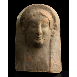 Testa arcaica in terracotta Magna Grecia, VI ...