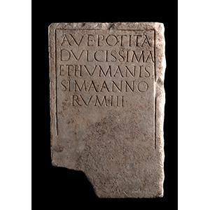 Stele funeraria della bambina Potita I ...