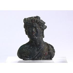 Busto maschile in bronzo II-III secolo d.C.; ...
