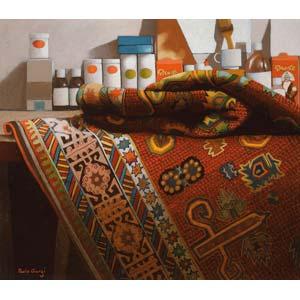 PAOLO GIORGINatura morta con tappeto, ...