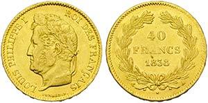FRANCIA - Luigi Filippo I (1830-1848) - 40 ...