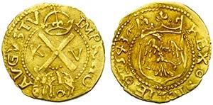MESSINA - Carlo V (1516-1556) - Mezzo scudo ...