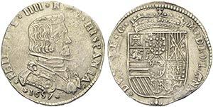 MILANO - Filippo IV (1621-1665) - Mezzo ...