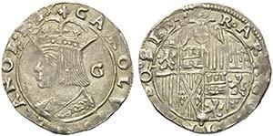 NAPOLI - Carlo V (1516-1556) - Carlino - ...