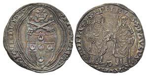 ROMA - Pio II (1458-1464) - Grosso - Stemma ...