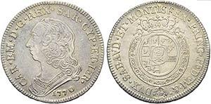 Carlo Emanuele III (1730-1773) - Mezzo scudo ...