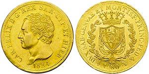 Carlo Felice (1821-1831) - 80 Lire - 1824 T ...