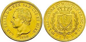 Carlo Felice (1821-1831) - 80 Lire - 1828 G ...