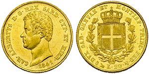 Carlo Alberto (1831-1849) - 20 Lire - 1841 G ...