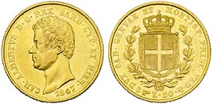 Carlo Alberto (1831-1849) - 20 Lire - 1847 T ...