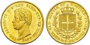 Carlo Alberto (1831-1849) - 20 Lire - 1849 G ...