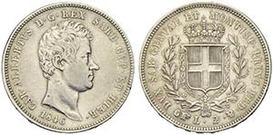 Carlo Alberto (1831-1849) - 2 Lire - 1846 T ...