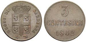 Carlo Alberto (1831-1849) - 3 Centesimi - ...