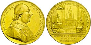 PAPALI - Pio VI (1775-1799) - Medaglia - A. ...