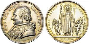 PAPALI - Pio VIII (1829-1830) - Medaglia - ...
