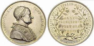 PAPALI - Gregorio XVI (1831-1846) - Medaglia ...