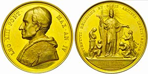 PAPALI - Leone XIII (1878-1903) - Medaglia - ...