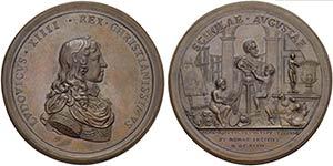 FRANCIA - Luigi XIV (1643-1715) - Medaglia - ...