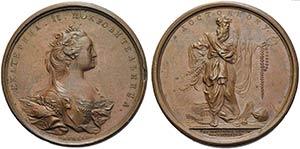 RUSSIA - Caterina II (1762-1796) - Medaglia ...