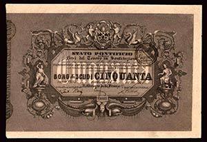 STATO PONTIFICIO - Boni del Tesoro (1848) - ...