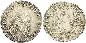 ANCONA - Gregorio XIII (1572-1585) - Testone ...