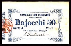 STATO PONTIFICIO - Comune di Pesaro (1849) - ...