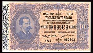 BIGLIETTI DI STATO - Umberto I (1878-1900) - ...