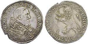 BOLOGNA - Sisto V (1585-1590) - Bianco - ...