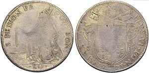 BOLOGNA - Pio VI (1775-1799) - Scudo da 4 ...
