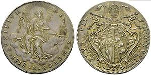 BOLOGNA - Pio VII (1800-1823) - Scudo - 1818 ...