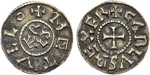 FRANCIA - Carlo il Calvo (840-877) - Denaro ...