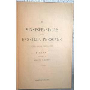 HALLBERG M. – II. Minnespenningar ofver ...