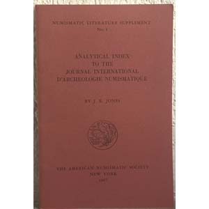 JONES J. R. – Analytical index to the ...