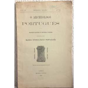 AA. VV. – O archeologo portugues. ...