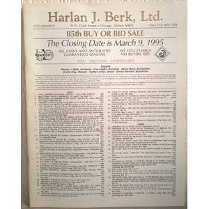 BERK HARLAN LTD. – Chicago, 9 march 1995. ...