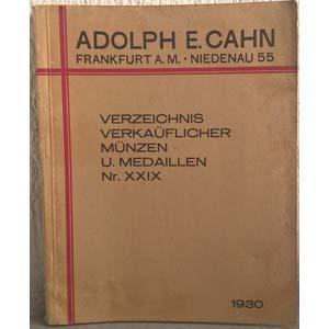 CAHN A. E. – Frankfurt am Main, 1930. ...