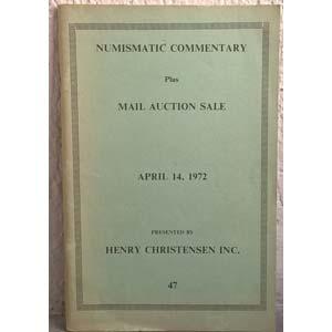 CHRISTENSEN H. Inc. – Numismatic ...