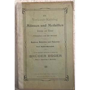 EGGER B. – Wien. Verkauft-Katalog von ...