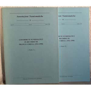 AA. VV. – Annotazioni numismatiche. Nn. ...