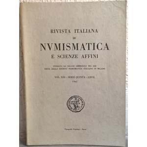 AA. VV. – Rivista italiana di numismatica. ...
