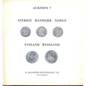 AHLSTROM B. MYNTHANDEL AB. - Auktion 7. ...
