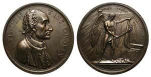 Gian Vincenzo Gravina (1664-1719). Æ Medal ...