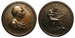 Luigi Galvani (1737-1798). Æ Medal 1803 ...