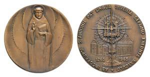 S. Antonio da Padova. Æ Medal 1963 (59mm, ...