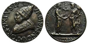 Papal, Sisto IV (1471-1484). Æ Medal 1484 ...